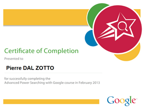 Power Searching with Google Diploma